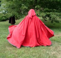 Red Fantasy Cloak by DesignsbyLadyFaire