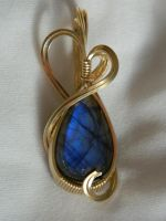 Tear of blue fire by DPBJewelry