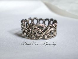 SS Band Ring by blackcurrantjewelry