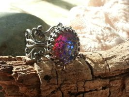 Dragon Scales Ring Filigree Medieval by artistiquejewelry