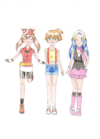The pokegirls by AkumaToTenshi