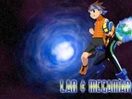 Wallpaper - Lan and MegaMan by mechsaiyan