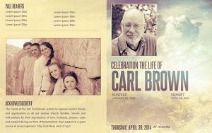 Celebrating the Life Funeral Program Template 014 by loswl