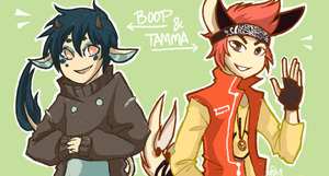 Commission: Tamma and Boop! by Mossygator