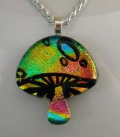 Magic Mushroom Dichroic Glass3 by poisons-sanity