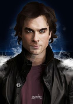 Damon Salvatore by ijographicz