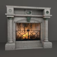 Fireplace ( 3d object ) by viiik33