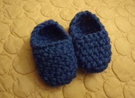 Tiny Blue Baby Slippers by BiggieShorty