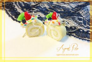 Cake Roll Earrings by AgentRose