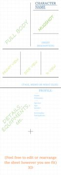 OC Reference Sheet Template (PSD link in desc.) by CrueltyEX