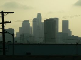 Los Angeles Smoggy Afternoon by DarkSlayer32