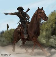 Red Dead Redemption - John Marston - The Chase by Panthour