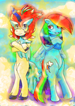 Keldeo and Dash Decked Out by CDee23