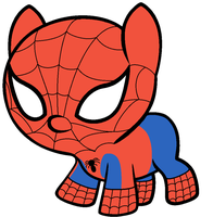 Spiderman... as a baby pony. by Beavernator