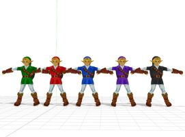 LoZ - Link smash Melee Colors (MMD) download by stopmotionOSkun