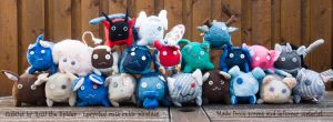 Cubties - cute cubicle upcycling plushies by Ruzi-the-Spider