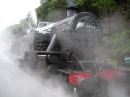 Fairburn Tank 42085 Steaming at Haverthwaite by rlkitterman