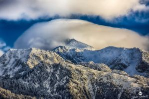 Low Clouds on Lone Peak by mjohanson