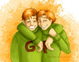Fred and George by Farbtropfen