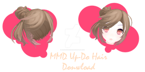.:MMD - Up-Do Hair Download:. by PandaSwagg2002