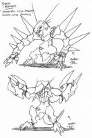 YYY monster sketch10 by Kainsword-Kaijin