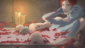 Bathtime Chronicles - Rose and Camomile by SketchGlee