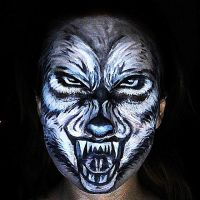 Game of Thrones inspired wolf face paint by lgoresfx