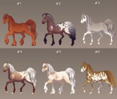 Open Horse Adoptables by Julia-adopts