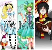 Bookmarks by Heather-Scribble