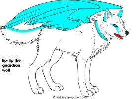 Lip-Lip guardian wolf by Cybernetic-Fangs