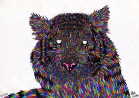 Psychedelic Tiger by you95100