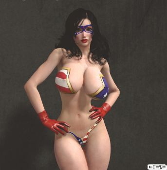 Americana - Queen of Justice! by B69comics