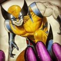 wolverine on xmen blank with copics by Sajad126
