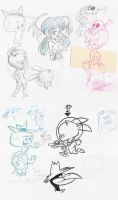 Sketch bunch 11 by luismario