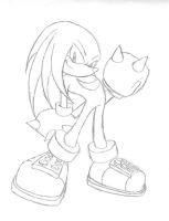 Knuckles the echidna by idolnya
