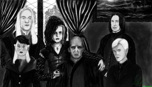 Voldemort and his followers by Zutarafan1993