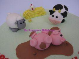 Farmyard Cake Toppers by SugarplumB