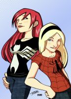 Gwen and MJ KidNotorious by VPizarro626