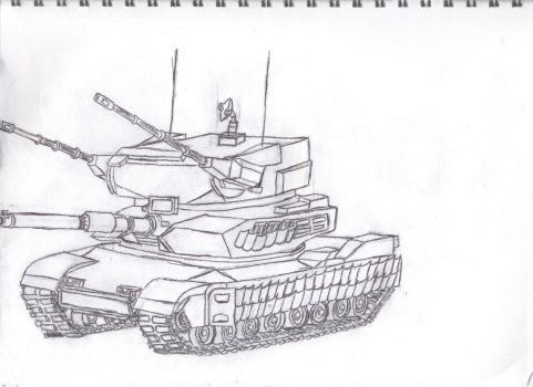 MBT-AA Tank by Macrocanthrosaurus