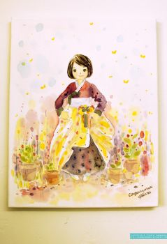 Cheerfully Yours, Hanbok Girl by Raindropmemory