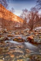 Warm Colors on a Winter River by mjohanson