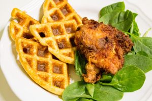 Chicken and Waffles by cedarlili