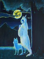 The wolfs moon by IncubusGrave
