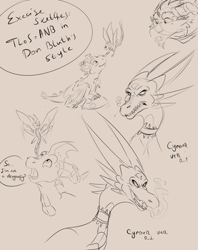 TLoS in Don Bluth's style - sketch training by WandererTamplior