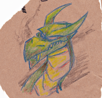 Pub doodles - Dragon by fnook