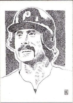 Mike Schmidt Phillies sketch card  baseball custom by stippleartist
