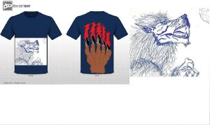 Werewolf Mythical Creatures T-shirt entry by Mitsuki---13