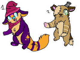 2 free halloween adoptables TAKEN by yoshll