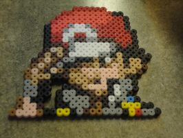 Red Perler Beads by seriia