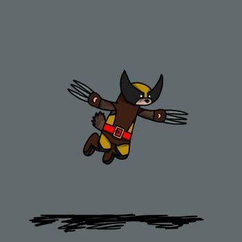 Wolverine as a wolverine (variant) by bulldog21